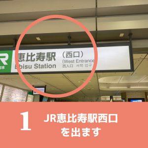 恵比寿店アクセス1